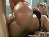 Slutty big boobs cougar Sadie Swede weari ...