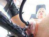 rubber lesbians - one in boots