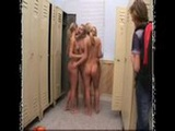 Cheerleaders Having Fun In The Locker Room