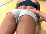 Gym Trainer Couldn't Take His Hands Off Girl's Perfect Ass