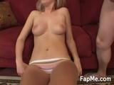 Sexy Blonde Chick Jerking A Big Schlong