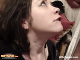 POV Facial Cumshot With Brunette Wife