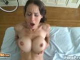 Busty Brunette Big Tits Fondled While Her Pussy Takes A Pounding