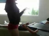 Hot GF riding her BF