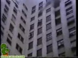 Panic jump through window