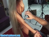 Hot POV Lapdance And Handjob By Czech Blonde
