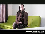 Casting - Skinny emo girl takes one in the ass