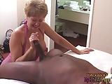 Tracy Licks.....Takes MrNuttz's 9 inch, big, black cock!!