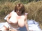 Toni F at a picnic