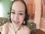 Cute young Amai Liu in action
