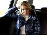 Sexy blonde fucked in fake taxi