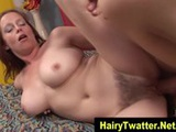 Watch this hairy box redhead sucking dick and fucking hard