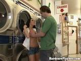 Horny Burglary Slut Fucked In Laundromat