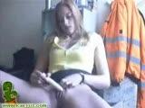 Blonde webcam chick masturbating