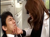 Japanese MILF boss Sumire strapon fucks worker (censored)