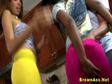 Black Booty Duo Get Creamed In Threeway