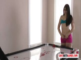 Two Sexy Girls Play A Game Of Strip Air Hockey