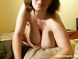 Busty Housewife Play Huge Boobs on Live