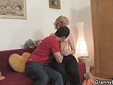 Young dude picks up and fucks cute mature blonde