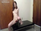 Pale Teen Wit Dildo