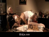Teen Fucking Nurse For Two Old Cocks