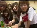 Japanese school girl orgy