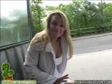 Camera man pics up slut at the bus station