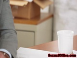 Office Secretary Vanessa Cage Bangs Her Boss