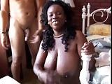 Beautiful big tits mature black babe Yvette enjoys a facial