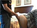 Naive nerdy girl gets fucked by dads friend
