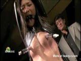 Suspended Nipple Torture - Nipple torture Videos