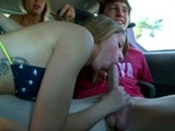 Teen Gives Blowjob On The Way To The Beach In The Car