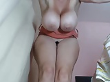 Milf with massive boobs quivering and squirting