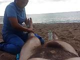 Nude massage on the beach