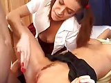 Teen Babysitters Get Caught Playing And End Up Fucked !