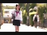 Cream pie kindling in uniform cosplay