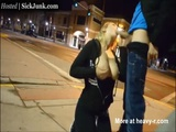 Downtown Blow Job ends with Facial   - Public Videos