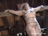 Blonde Crucified With Barbed Wire - BDSM Videos