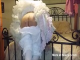 Teen Sissy Bunny Brutal Bamboo Caninglocked in Chastity - Sissy Videos