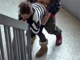 Crazy Asian Couple Gets Fucked On The Public Building Stairs