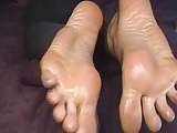 Size 12 Big Feet Long Toes Oil Massage