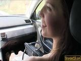 Cute teen Elisabeth screwed up in public