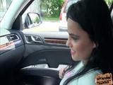 Latina teen Zelda pays sex to the driver