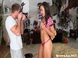 Twerking ebony swallows a load of jizz