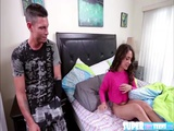 Cute and brunette Ziggy Star gets a helping hand in pleasing herself