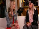 Horny teens Goldie and Rachel goes scissor lesbian sex