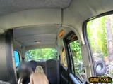 Horny blonde chick passenger goes hardcore anal in the cab