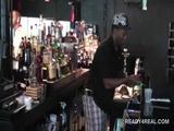 Amateur dudes playing sex games in public