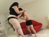 Tiny Guy Attacked By Big Girl - Smothering Videos