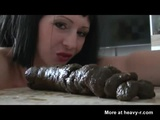 Giving Birth To Foot Long Turd - Scat Videos